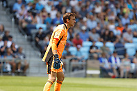 ST PAUL, MN - JULY 18: Tyler Miller #1 of Minnesota United FC during a game between Seattle Sounders FC and Minnesota United FC at Allianz Field on July 18, 2021 in St Paul, Minnesota.