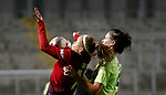 Charlie Devlin of Manchester United Danielle Cox of Sheffield Utd Women