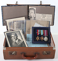 Poignant archive of a tragic Battle of Britain hero has been discovered in a suitcase