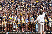 Cal Fans. The University of California Berkeley Golden Bears defeated the UC Davis Aggies 52-3 in their home opener at Memorial Stadium in Berkeley, California on September 4th, 2010.