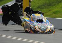 Jun. 19, 2011; Bristol, TN, USA: NHRA funny car driver Jim Head during eliminations at the Thunder Valley Nationals at Bristol Dragway. Mandatory Credit: Mark J. Rebilas-