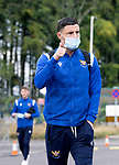 St Johnstone v Dundee United…22.08.21  McDiarmid Park    SPFL<br />Michael O'Halloran pictured arriving ahead of today's game against Dundee United<br />Picture by Graeme Hart.<br />Copyright Perthshire Picture Agency<br />Tel: 01738 623350  Mobile: 07990 594431