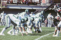 Ron Lancaster Saskatchewan Roughriders quarterback. Saskatchewan Roughriders vs Ottawa Rough Riders. Copyright photograph Scott Grant