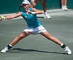 Marina Erakovic (NZL) plays at the Family Circle Cup in Charleston, South Carolina on April 5, 2012