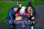 Aidan and Robyn Holden and Regina Harrington enjoying a stroll in the Listowel town park on New Years Eve.