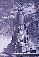 """Russia:  Winning Entry, 1st Competition , Palace of Soviets, 1932.  """"This design set the trend...into the 1950's."""""""