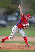 March 25, 2010:  Pitcher Luke Wertz of the Philadelphia Phillies organization during a Spring Training game at the Carpenter Complex in Clearwater, FL.  Photo By Mike Janes/Four Seam Images