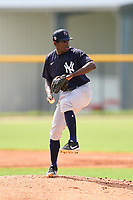 FCL Yankees pitcher Josue Panacual (25) during a game against the FCL Tigers West on July 31, 2021 at Tigertown in Lakeland, Florida.  (Mike Janes/Four Seam Images)