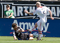 April 11, 2009:  Tim Ward of Fire and Eric Denton in action at Buck Shaw Stadium in Santa Clara, California. San Jose Earthquakes and Chicago Fire tied, 3-3