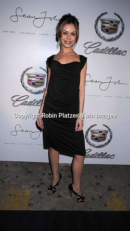 """Alexis Dzina, actress in """"Fool's Gold"""".arriving at The Sean John Fall 2008 Fashion Show afterparty at Tenjune on February 8, 2008 in New York City..Sean John is the fashion line of Sean """"Diddy"""" Combs..Robin Platzer, Twin Images..212-935-0770"""