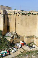 Globerinenkalk Steinbruch bei Qrendi, Malta, Europa