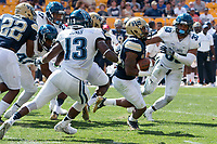 Quadree Henderson returns a kickoff for a touchdown. The Pitt Panthers defeated the Villanova Wildcats 28-7 at Heinz Field, Pittsburgh, Pennsylvania on September 3, 2016.