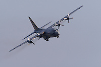 Norwegian Air Force C-130 Hercules comes into land at Rygge Airshow. Norway