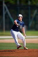 John Lynch during the WWBA World Championship at the Roger Dean Complex on October 21, 2018 in Jupiter, Florida.  John Lynch is a left handed pitcher from Dallas, Texas who attends Jesuit College Preparatory School.  (Mike Janes/Four Seam Images)