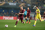 Radja Nainggolan of AS Roma runs with the ball during the match Villarreal CF vs AS Roma, part of the UEFA Europa League 2016-17 Round of 32 at the Estadio de la Cerámica on 16 February 2017 in Villarreal, Spain. Photo by Maria Jose Segovia Carmona / Power Sport Images