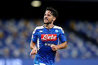 Dries Mertens of SSC Napoli celebrates after scoring the goal of 1-1 during the second leg of Italy Cup semifinal between SSC Napoli and FC Internazionale at San Paolo Stadium in Naples ( Italy ), June 13th, 2020. With this goal, the 122th, Dries Mertens became the best scorer in his club history. <br /> Photo Stringer CP/ Insidefoto