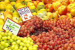 Seedless grapes, Red and black, green, Pike Place Market, Seattle, WA