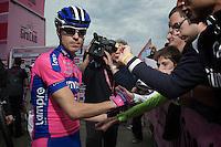 Giro d'Italia stage 13.Savano-Cervere: 121km..Damiano Cunego before the race