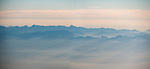 Sierra Nevada range in the morning, California from a window seat–America's flyover country: SMF-LAX-MDW