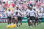 Fiji vs New Zealand during their Pool C match as part of the HSBC Hong Kong Rugby Sevens 2017 on 08 April 2017 in Hong Kong Stadium, Hong Kong, China. Photo by Marcio Rodrigo Machado / Power Sport Images