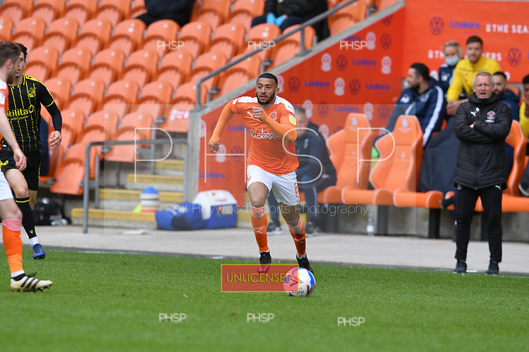 09/05/2021 Sky Bet League 1 Blackpool v Bristol Rovers  <br /> <br /> Keshi Anderson in action for Blackpool