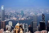 Hong Kong SAR contrasts, in the South China Sea.