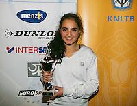 01-12-13,Netherlands, Almere,  National Tennis Center, Tennis, Winter Youth Circuit, Girls 16 years , 4 th place: Phillis Vanenburg <br /> Photo: Henk Koster