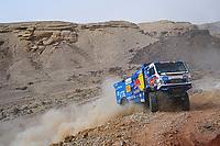 7th January 2021; Riyadh to Buraydah, Saudi Arabia; Dakar Rally, stage 5;  #501 Shibalov Anton (rus), Nikitin Dmitrii (rus), Tatarinov Ivan (rus), Kamaz, Kamaz - Master, Camion, Truck, action during the 5th stage of the Dakar 2021 between Riyadh and Al Qaisumah, in Saudi Arabia on January 7, 2021