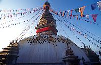 Swayambunath stupa.