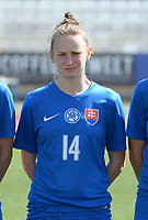 20180307 - LARNACA , CYPRUS :  Slovakian Petra Zdechovanova  pictured during a women's soccer game between  Slovakia and the Czech Republic , on Wednesday 7 March 2018 at the GSZ Stadium in Larnaca , Cyprus . This is the final game in a decision for 9 th or 10 th place of the Cyprus Womens Cup , a prestigious women soccer tournament as a preparation on the World Cup 2019 qualification duels. PHOTO SPORTPIX.BE   DAVID CATRY