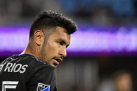 SAN JOSE, CA - MARCH 7: Andy Rios #25 of the San Jose Earthquakes during a game between Minnesota United FC and San Jose Earthquakes at Earthquakes Stadium on March 7, 2020 in San Jose, California.