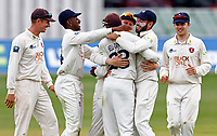 Daniel Bell-Drummond of Kent is mobbed after running out Luke Proctor during Kent CCC vs Northamptonshire CCC, LV Insurance County Championship Group 3 Cricket at The Spitfire Ground on 6th June 2021