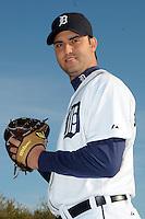 Feb 21, 2009; Lakeland, FL, USA; The Detroit Tigers pitcher Armando Galarraga (58) during photoday at Tigertown. Mandatory Credit: Tomasso De Rosa/ Four Seam Images