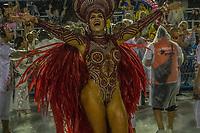 RIO DE JANEIRO (RJ) 29.02.2020 - Carnaval - Rio Escola de samba Viradouro no desfile das campeas das escolas de samba do Grupo Especial do Rio de Janeiro neste sabado (29) na Marquues de Sapucai. Rainha de bateria Raissa Machado. (Foto: Ellan Lustosa/Codigo 19/Codigo 19)