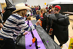 Unidentified kids trick-or-treat during the Carson City Boo-nanza at the Community Center on Wednesday, Oct. 25, 2017. <br /> Photo by Cathleen Allison/Nevada Momentum