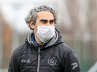 Assistant coach Karim Attanjaoui (Woluwe) pictured before a female soccer game between FC Femina White Star Woluwe and Sporting Charleroi on the 10 th matchday of the 2020 - 2021 season of Belgian Scooore Womens Super League , Saturday 19 th of December 2020  in Woluwe , Belgium . PHOTO SPORTPIX.BE | SPP | SEVIL OKTEM