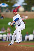 South Bend Cubs pitcher Chris Clarke (37) during a game against the Quad Cities River Bandits on August 20, 2021 at Four Winds Field in South Bend, Indiana.  (Mike Janes/Four Seam Images)