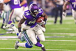 Minnesota Vikings wide receiver Stefon Diggs (14) in action during the pre-season game between the Minnesota Vikings and the Dallas Cowboys at the AT & T stadium in Arlington, Texas. Minnesota defeats the Cowboys 28 to 14.