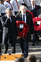 ***NO UK*** REF: MTX 193994 - British Prime Minister Boris Johnson attends the annual Remembrance Sunday memorial at The Cenotaph in London, England.  NOVEMBER 10th 2019. Credit: Trevor Adams/Matrix/MediaPunch