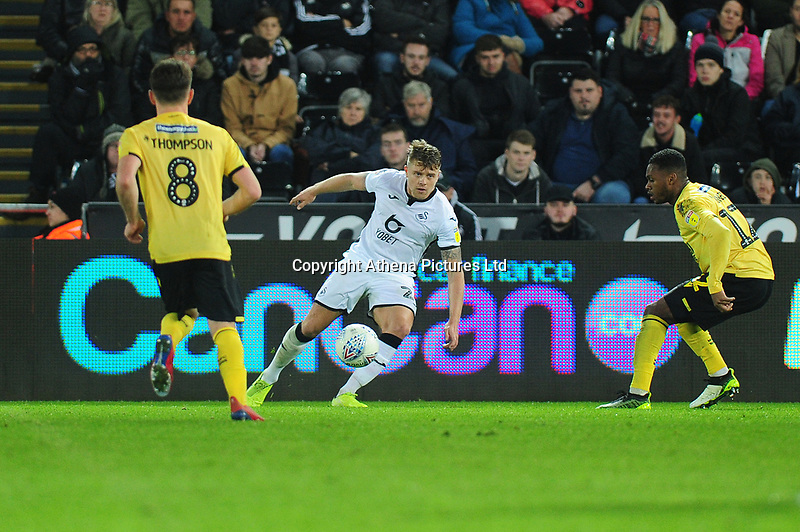Jake Bidwell of Swansea City in action during the Sky Bet Championship match between Swansea City and Millwall at the Liberty Stadium in Swansea, Wales, UK. Saturday 23rd November 2019