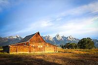 Moulton Barn Sunrise - Wyoming - Grand Teton NP