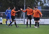 SV Rumbeke - Sasport Boezinge : vreugde na de 0-1 voor Boezinge.foto VDB / BART VANDENBROUCKE.
