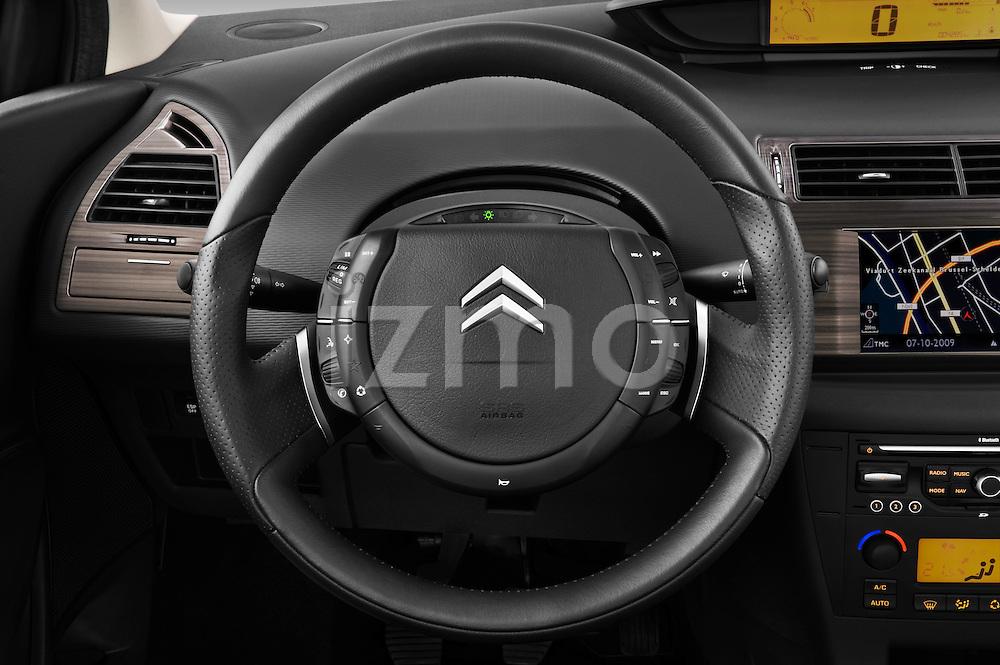 Steering wheel view of a2009 Citroen C4 Executive 5 Door Hatchback