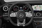 Car pictures of steering wheel view of a 2020 Mercedes Benz E-Class AMG-E53 4 Door Sedan Steering Wheel