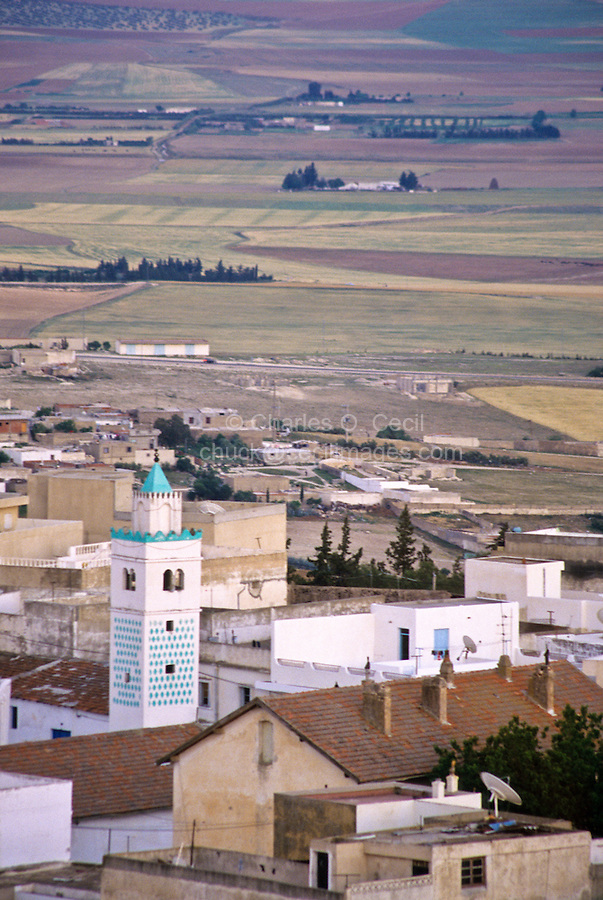 Tunisia, Le Kef.  View from the citadel, dominating town and countryside.