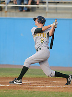 July 16, 2009: Infielder Jordy Mercer (5) of the Lynchburg Hillcats, Carolina League affiliate of the Pittsburgh Pirates, in a game at G. Richard Pfitzner Stadium in Woodbridge, Va. Photo by: Tom Priddy/Four Seam Images