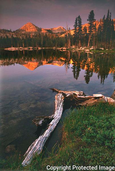Lake at Twighlight, High Sierras