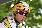 Mark Cavendish (GBR) HTC-Columbia before the start of Stage 19 of the 2010 Tour de France an individual time trial running 52km from Bordeaux to Pauillac, France. 24th July 2010.<br /> (Photo by Eoin Clarke/NEWSFILE).<br /> All photos usage must carry mandatory copyright credit (© NEWSFILE | Eoin Clarke)