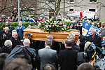 © Joel Goodman - 07973 332324 - all rights reserved . 26/01/2011, Bolton , UK . Hundreds of people turn out for the funeral of Bolton Wonderers and England footballer Nat Lofthouse at Bolton Parish Church . Lofthouse , known to fans as The Lion of Vienna , died at the age of 85 . Photo credit : Joel Goodman