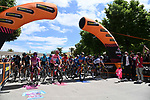 The start of Stage 8 of the 2021 Giro d'Italia, running 170km from Foggia to Guardia Sanframondi, Italy. 15th May 2021.  <br /> Picture: LaPresse/Gian Mattia D'Alberto | Cyclefile<br /> <br /> All photos usage must carry mandatory copyright credit (© Cyclefile | LaPresse/Gian Mattia D'Alberto)